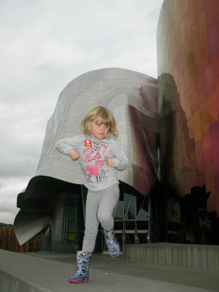 Girl at the EMP in Seattle