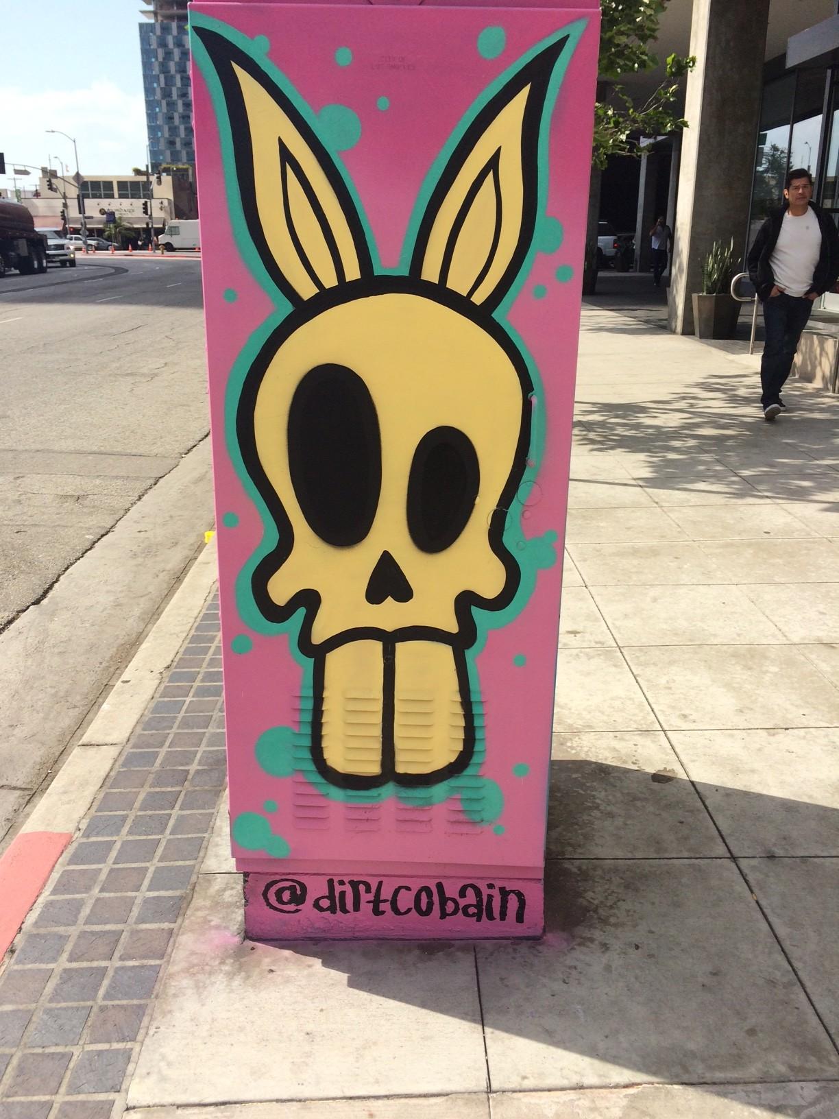 graffiti in downtown LA